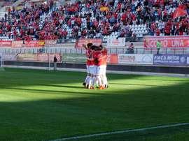 El Murcia no ha fallado en su visita al colista. RealMurciaCFSAD