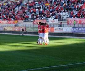 El Real Murcia se ha llevado la victoria en un nuevo encuentro. RealMurciaCFSAD