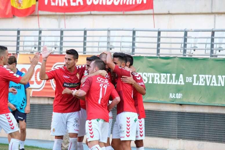 El Murcia logró imponerse al Jaén en la Nueva Condomina. RealMurcia
