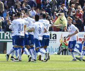 Un gol de Casado en la recta final del partido dio la victoria al Zaragoza. RealZaragoza