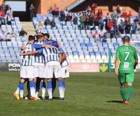 El Recreativo superó al Murcia en la clasificación con su victoria por 3-0. Albiazules