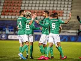 El Saint-Étienne ganó, con más apuros de los esperados. Twitter/ASSEofficiel