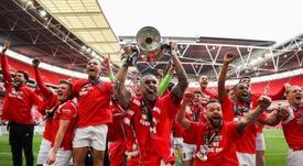 El Salford City ascendió a la League Two por primera vez en su historia. Twitter/SalfordCityFC