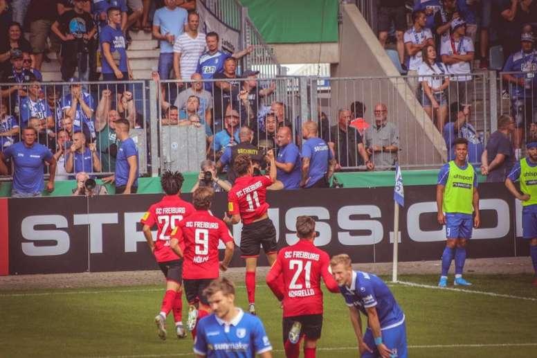 Waldschmidt evitó el ridículo en Magdeburgo. EFE/EPA