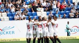 Une victoire plus pour Séville lors de sa préparation estivale. SevillaFC
