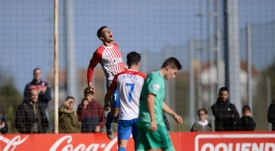 Bertín fue la pesadilla del Castilla. RealSporting