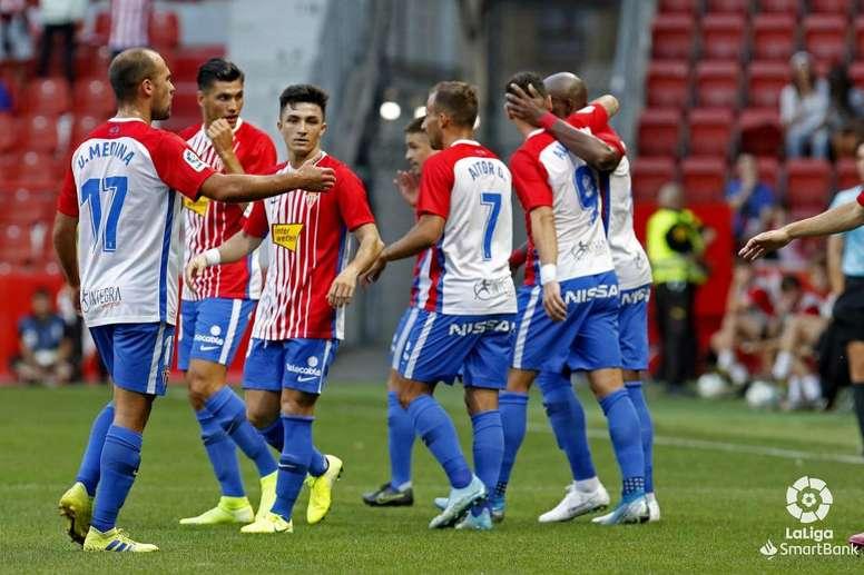 El Sporting, a por una victoria vital. Twitter/RealSporting