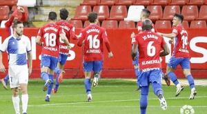 Gaspar lleva al Sporting al estado de felicidad. LaLiga