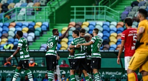 Un gol del rey del posparón afianza al Sporting tercero. Sporting_CP