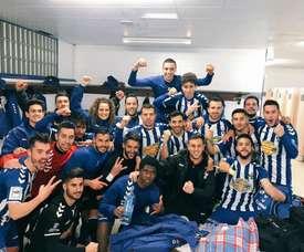El Talavera se impuso al Castilla. Twitter/CristianFernández