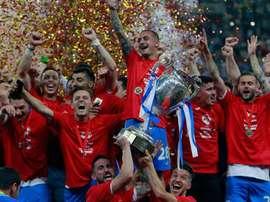 El Universitatea Craiova, campeón de la Copa de Rumanía. EFE