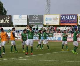 El Villanovense ha logrado una sufrida y meritoria victoria ante el Fuenlabrada. AytoVVASerena