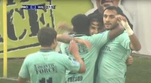 Willem II y Lech Poznan golean. Captura/WillemII