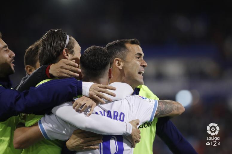 Álvaro fue uno de los goleadores de la noche. LaLiga