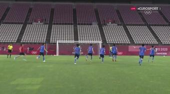 Japón se mete en semifinales. Captura/Eurosport