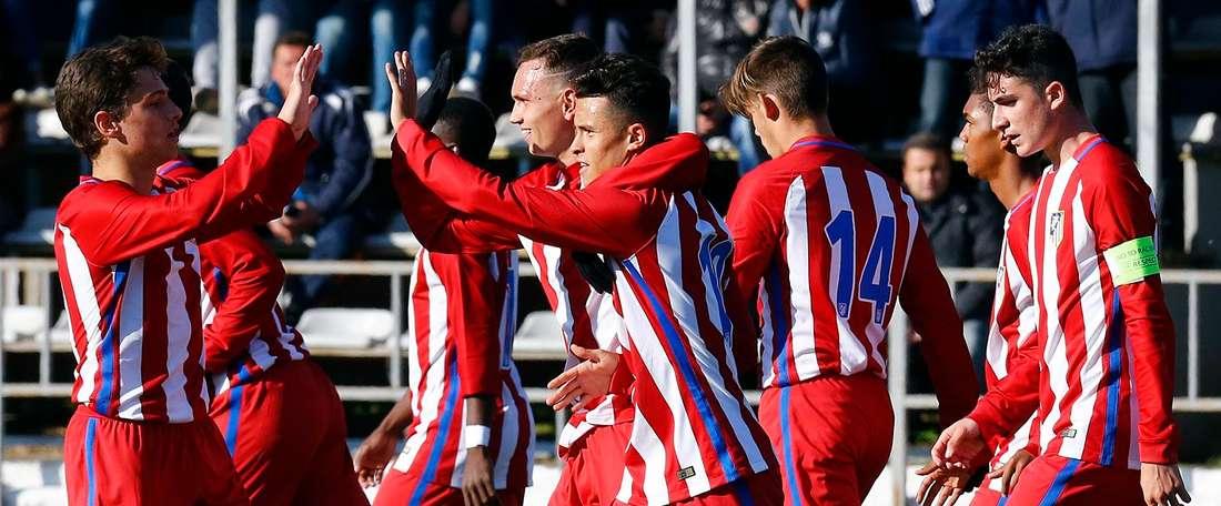 El Atlético ganó al Madrid con un claro 3-1. ClubAtleticodeMadrid