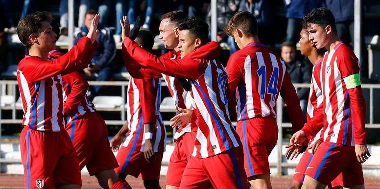 El Atleti ya está en cuartos de la Youth League. ClubAtleticoDeMadrid
