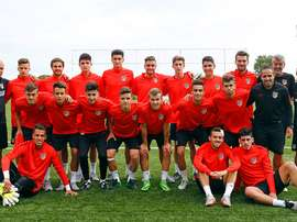 Los juveniles del Atlético de Madrid. Clubatleticodemadrid.com