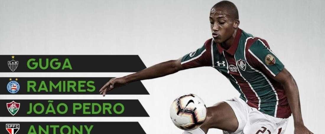 Les cinq perles brésiliennes que 'ProFootballDB' met en avant. ProFootballDB