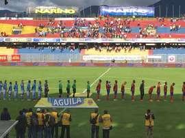 Deportivo Pasto consiguió la victoria a domicilio en casa de Junior. Twitter