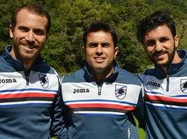 Los tres renovados de la Sampdoria. Sampdoria