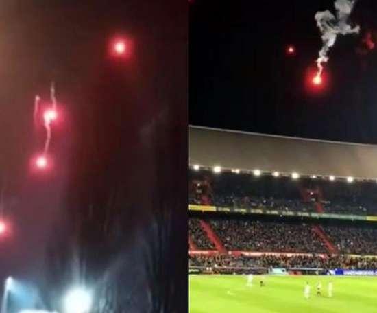 La última de los ultras del Feyenoord. Captura/ASTV