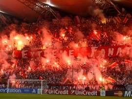 Los ultras polacos sobrepasaron el límite. EFE/Archivo