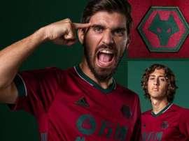 Wolves lançou seu terceiro uniforme com as cores da seleção de Portugal. Captura/wolves