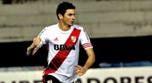 Lucas alario, celebrando el gol de la victoria de River ante Vélez Sarsfield. Twitter