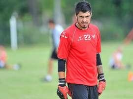 Lucas Hoyos, guardameta de Atlético Rafaela. AtléticoRafaela