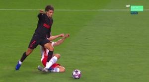 João Félix entrou em campo e empatou contra o RB Leipzig. Captura/MovistarLigadeCampeones