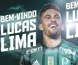 Lucas Lima, nuevo jugador de Palmeiras. Twitter/Palmeiras