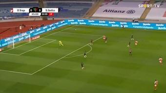 Lucas Piazon abre o placar para o Braga na final da Taça de Portugal 20-21. Captura Sportv