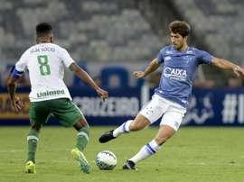 El centrocampista disputó los 90 minutos con su equipo. Cruzeiro