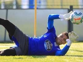 Lucho García está tocado del muslo de la pierna derecha. RCDeportivo