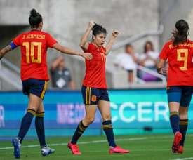 España se impone a Japón en su debut en la Copa SheBelieves. SeFutbolFem