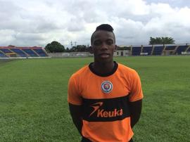 Luis Alberto Caicedo posa con la camiseta de Cortuluá en la temporada 2017-18. Twitter