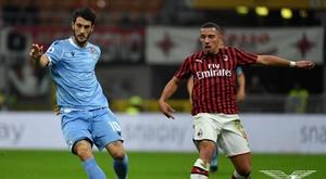 Le formazioni ufficiali di Lazio-Milan. Twitter/SSCLazio