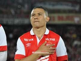 Luis Carlos Arias, antes de un partido de Independiente de Santa Fe. IndependienteSantaFe