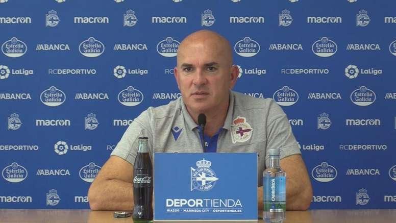 Luis César, sincero con la situación del Deportivo. Twitter/RCDeportivo