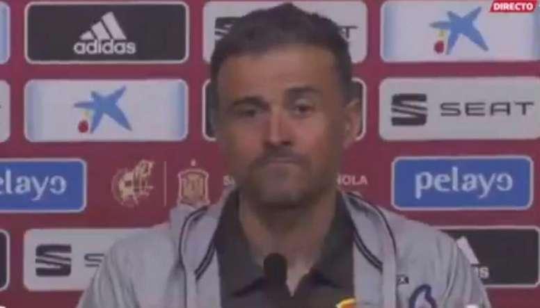 Luis Enrique no quiso responder a la pregunta sobre Piqué. Captura/GOL