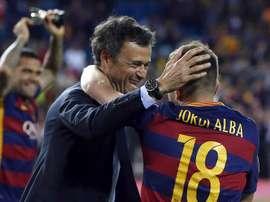 Aleix Vidal admet que Luis Enrique et Jordi Alba ont une relation compliquée. EFE