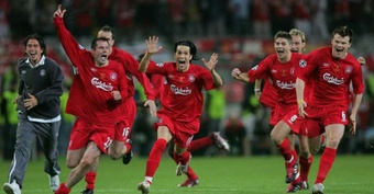 Gerard led Liverpool to 2005 CL success. AFP