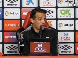 A Luis García no le obsesiona dormir como primeros de la Liga Smartbank. Captura/RCDMallorca