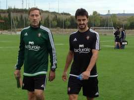 Luis Martins, al término de un entrenamiento con Osasuna. Twitter