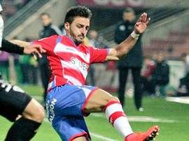 Luis Martins, en un partido de la pasada temporada con el Granada. Twitter