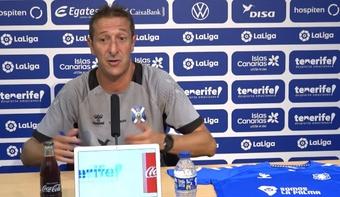 Ramis se reencontrará con el Almería al frente del banquillo del Tenerife. Captura/CDTenerife