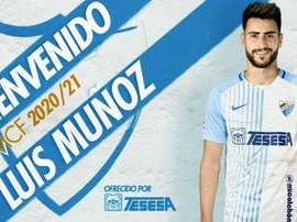 Luis Muñoz firmó hasta 2023. Twitter/MalagaCF