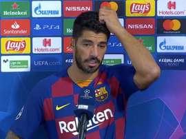 Suárez falou após conquistar a vaga nas quartas. Captura/MovistarLigadeCampeones