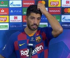 El Bayern no genera miedo en Luis Suárez. Captura/MovistarLigadeCampeones
